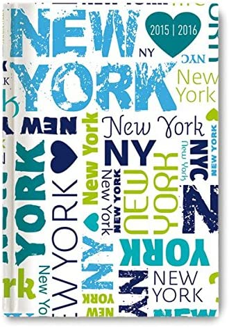 Alpha Edition 16.0667 New York Diario Scuola Collegetimer, A6, 2015/2016, 1 Settimana Su 2 Pagine