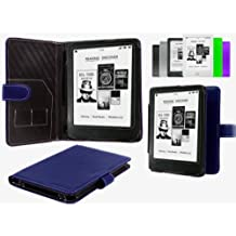 "Navitech Blue Bycast Leather Case For The Kobo Mini 5 "" Inch E-reader"
