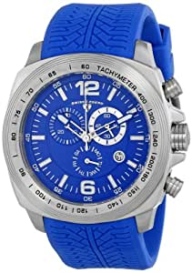 "Swiss Legend Men's ""Sprinter"" Stainless Steel and Blue Silicone Blue Dial Watch"