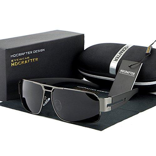 HDCRAFTER Grey Polarized Sunglasses for Men & Women Lenses Glasses Driving Fishing Outdoor - Hdcrafter Sunglasses
