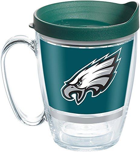 Tervis 1257629 NFL Philadelphia Eagles Legend Tumbler with Wrap and Hunter Green Lid 16oz Mug, Clear ()