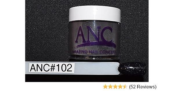 14830cc2dc Amazon.com : ANC Dipping Powder 1 oz #102 Black Glitter : Beauty
