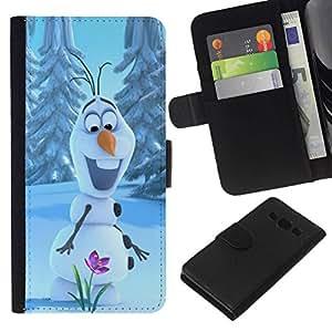 All Phone Most Case / Oferta Especial Cáscara Funda de cuero Monedero Cubierta de proteccion Caso / Wallet Case for Samsung Galaxy A3 // Happy Spring Flower Winter