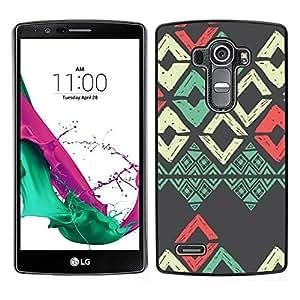 LG G4 / H815 H812 H810 H811 LS991 VS986 US991 Único Patrón Plástico Duro Fundas Cover Cubre Hard Case Cover - Teal Red Grey Art Pattern
