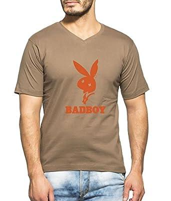 c61eaf089f6 Clifton Men s Printed Half Sleeve V-Neck T-Shirt-Walnut-Bad Boy-Flt ...