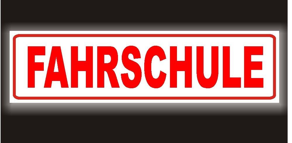 Reflektierendes Magnetschild - Fahrschule - 35x8cm fü r KFZ und sonstige Metalloberflä chen - 35 x 8cm Magnetfolie reflektierend PACO Deutschland e.K.