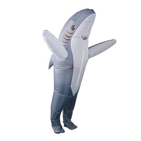 XUE Traje Inflable Ropa Tiburón Adultos For Acuarios, Fiesta ...