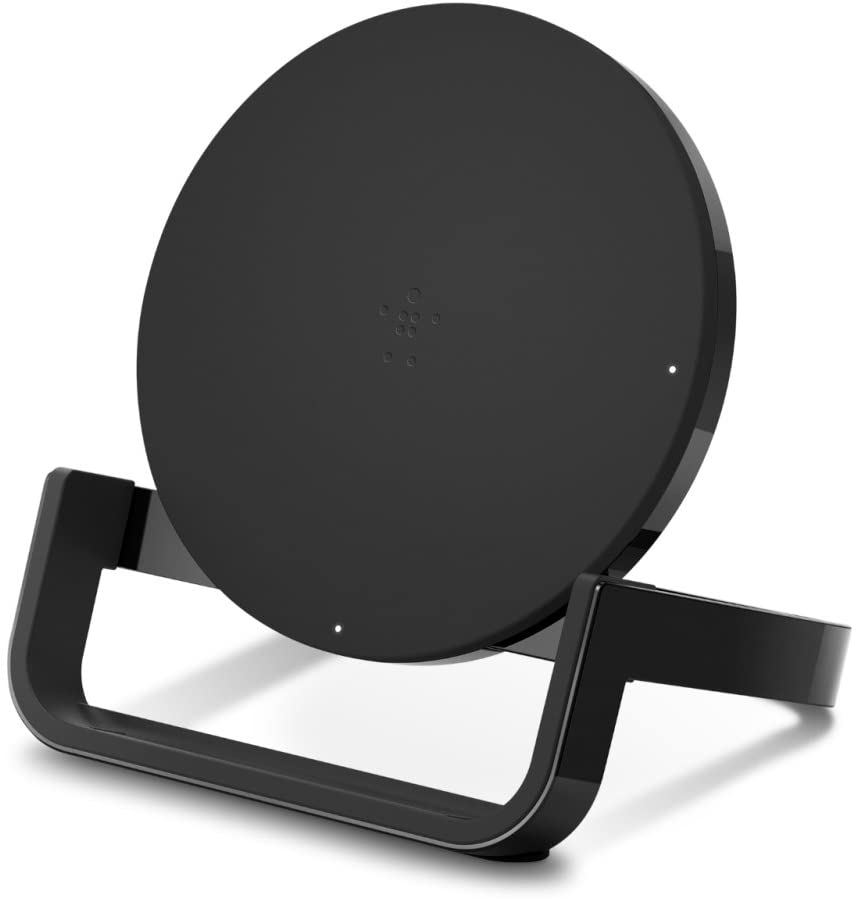 Belkin Boost Up Wireless Charging Stand 10W - Qi Wireless Charger for iPhone 11, 11 Pro, 11 Pro Max, Xs, XS Max, XR/Samsung Galaxy S9, S9+, Note9 / LG, Sony and More (Black) (F7U052dqBLK)