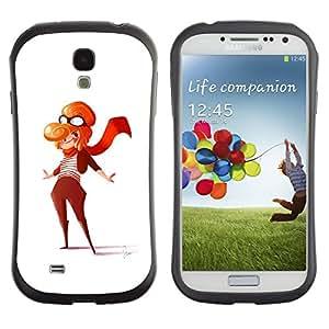 Suave TPU GEL Carcasa Funda Silicona Blando Estuche Caso de protección (para) Samsung Galaxy S4 I9500 / CECELL Phone case / / Pilot Girl Woman Art Painting Outfit Scarf /