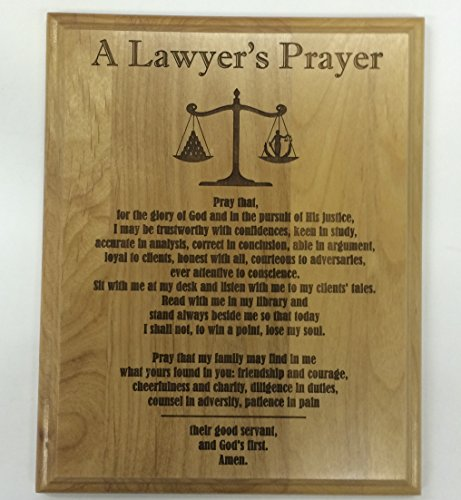 A Lawyer's Prayer Engraved on 8