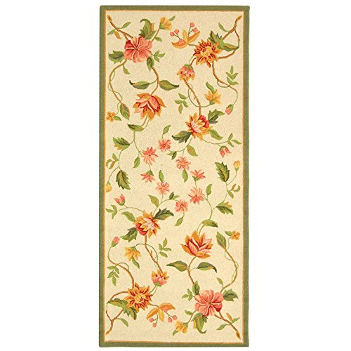 Safavieh Chelsea Collection HK263A Hand-Hooked Ivory Premium Wool Runner (2'6