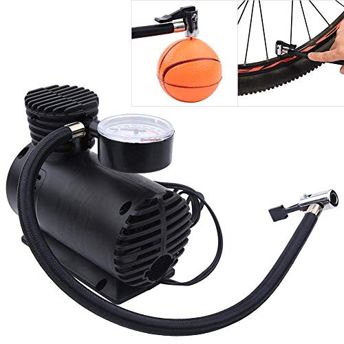 Rexez Air Compressor for Car and Bike 12V 300 PSI Tyre Inflator Air Pump for Motorbike,Cars,Bicycle,for Football,Cycle Pumps for Bicycle,car air Pump for tubeless By Rexez