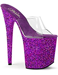 Pleaser Womens Flam801lg/c/Blg Platform Sandal