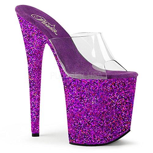 Pleaser Womens Flam801lg/C/Blg Clr/Purple Holo Glitter EGTrLu2LpY