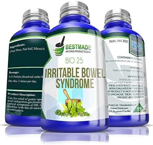 Irritable Bowel Syndrome Bio25, 300 pellets, Natural IBS Supplement for Relief of Digestive Problems Like Gas, High Acid Stomach, Nausea, Vomiting, Constipation & Diarrhea