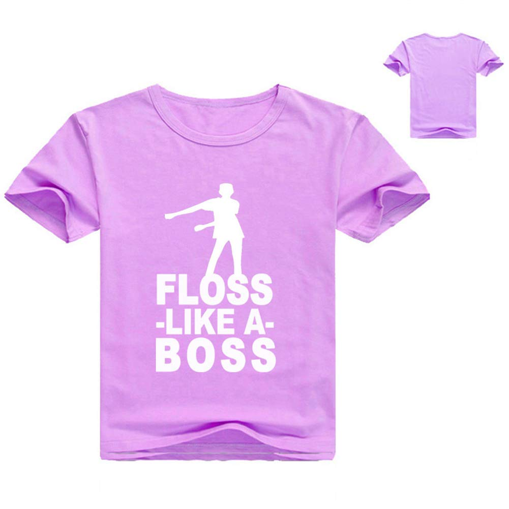 9ab154d8f Boys Girls Floss Like a boss T Shirt, Children's Gaming t Shirt, Men's  Gaming t Shirt,Purple,120cm: Amazon.ca: Sports & Outdoors