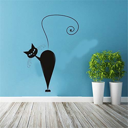 Eisoa Removable Vinyl Wall Stickers Mural Decal Art Home Decor Cat Halloween Wall Sticker Festival Modern Decal Beauty