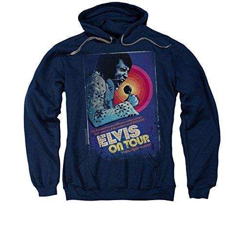 On Tour Poster Elvis Presley Adult Hoodie Sweatshirt, Large