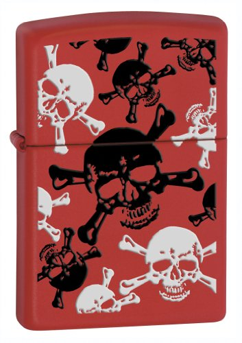 Zippo 233 SKL&XBNS Red Matte Pocket Lighter