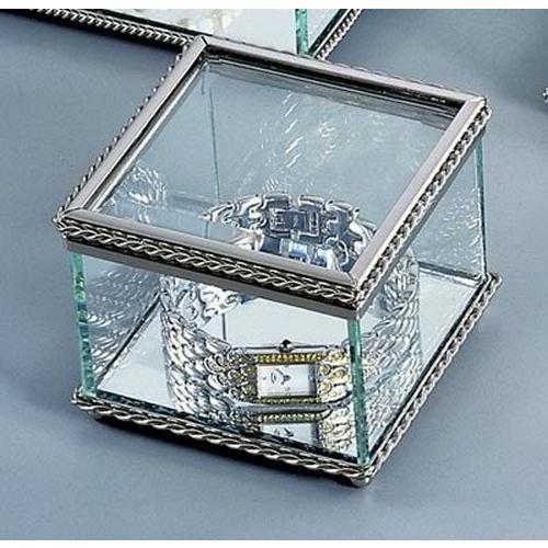 Glass Trinket (Square Glass Keepsake Box )