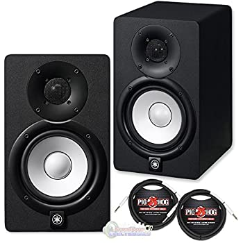 Yamaha hs5 active monitors pair with trs xlr for Yamaha hs5 speaker stands