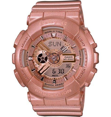 52202976241d Casio Baby G Pink Gold Metallic Resin Ladies Watch BA111-4CR (B00G5O0RGC)
