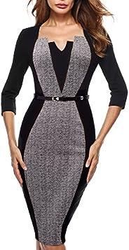 HOMEYEE Women's Vintage Wear to Work Formal Dress