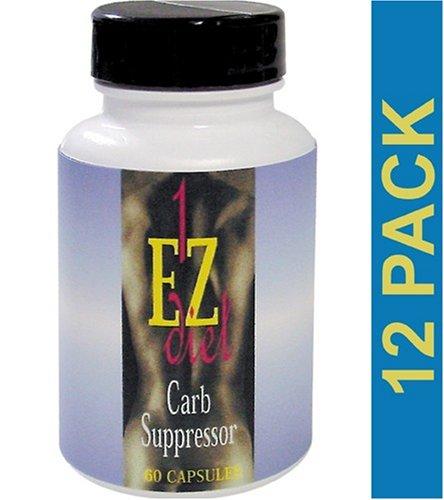 Carb Suppressor, 1-EZ Diet, Maximum International, 60 Tablets, 12 bottles by Maximum International