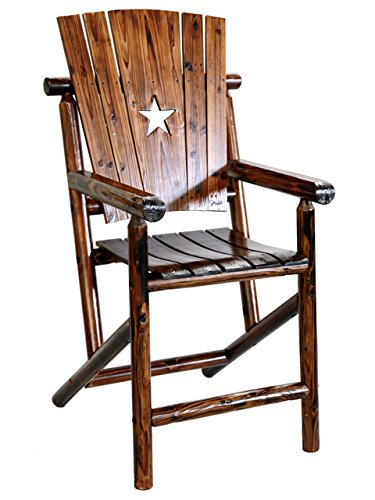 Leigh Country Bar Arm Chair with Star Log Bar Chair