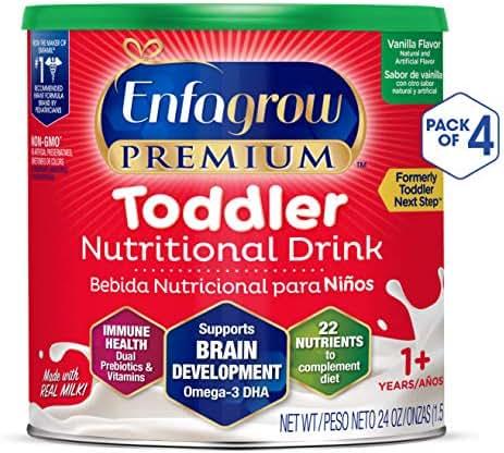 Enfagrow Toddler Next Step, Vanilla Flavor - Powder Can, 24 oz (Pack of 4)
