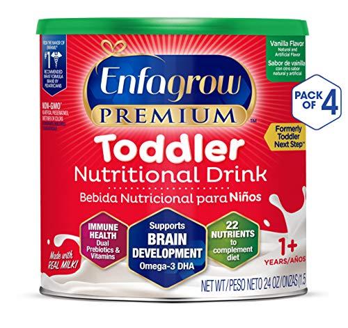 Enfagrow Toddler Next Step, Vanilla Flavor - Powder Can, 24 Ounce (Pack of 4)