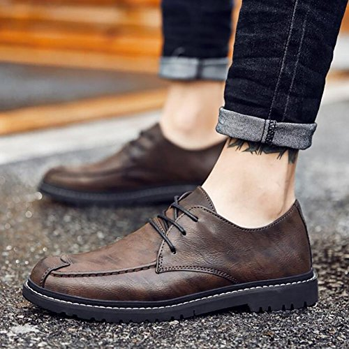 C Formelles Ressort De Chaussures Des Le Occasionnelles Formelles Chaussures Chaussures Chaussures Hommes Vers De D'hommes Lacet Chaussures Des Élégant Haut Occasionnelles Faux D'affaires Les Cuir Spqf7