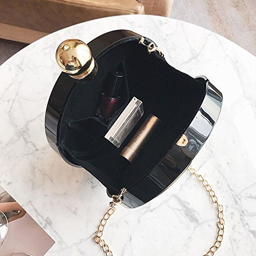 CIFFOST Main Party Embrayage Femme Shoulder Purse Sac SoirÉE Noir Acrylique À Crossbody AwngqAXr