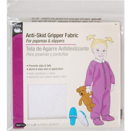 Dritz 564 Anti-Skid Gripper Fabric, 11 x 24-Inch, White