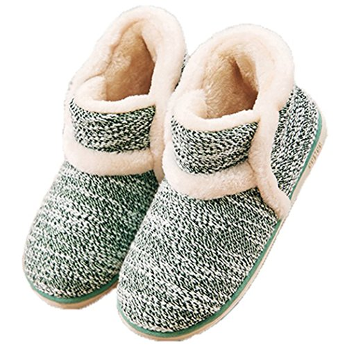 Winter Vintage Boot Slippers Arctic Solid Indoor Green 8 B(M) US