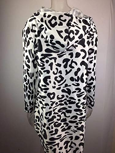 Young Fashion Elastico Big Leopard Print Maniche Qualità Ladies Casual Black Size Conforte Lunghe Cappotto Alta Capispalla uTlJ3KF1c