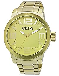 Kenneth Cole Reaction Unisex RK3244 Street Fashion Analog Display Japanese Quartz Gold Watch