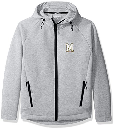 Levelwear LEY9R Adult Men Titan Insignia Full Zip Hooded Jacket, Heather Pebble, XX-Large ()