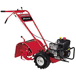 Troy-Bilt Pony ES 250cc Briggs & Stratton 1150 Series Gas Powered Counter Rotating Rear Tine 12-Inch Tiller With Electric Start