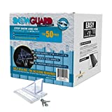 50 QTY Commercial Bulk Pack (Snow Guards, Perfect Seal Gaskets & Screws) - Stop Snow From Sliding Off Your Roof
