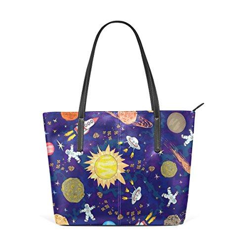 COOSUN Space Pattern PU Leder Schultertasche Handtasche und Handtaschen Tasche für Frauen