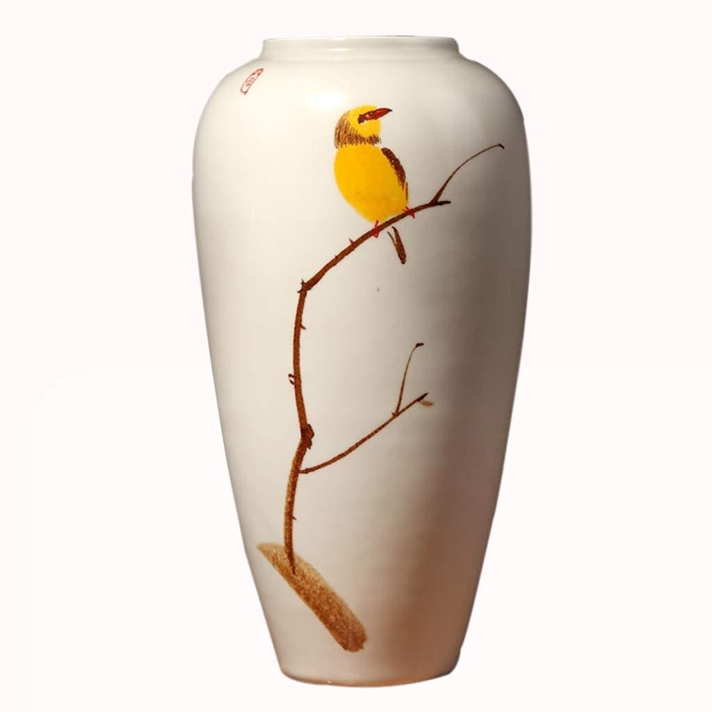 シックな花瓶 セラミック家の装飾花瓶AXZHYA19060409装飾クリエイティブフラワーアレンジメント装飾デスクトップ大花瓶7×7×13.7インチ 写真シックな花瓶シリンダー花瓶、装飾用花瓶 B07SM9LZWF