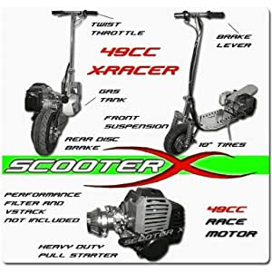 ScooterX 49cc X-Racer Gas Scooter