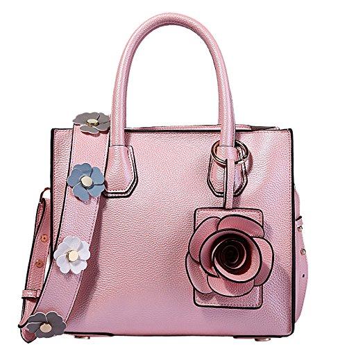 Moda Señora Bolso Bolso De Hombro Bolso Bolso Del Tot Bolso Crossbody Simple Pink