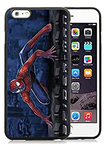 Beautiful Designed Cover Case With Spider man AA 10 Black Phone Case for iPhone 6 plus 5.5 inch