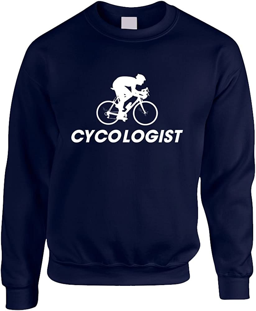 Allntrends Adult Sweatshirt Cycologist Love Sport Cool Cycling Top