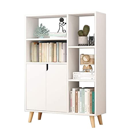 Amazon.com: Standing Shelf Units Bookcase Wood Bookshelf ...