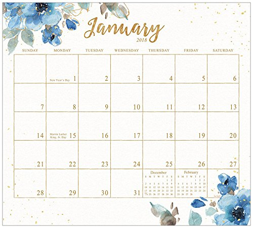 Legacy Publishing Group 2018 Magnetic Calendar Pad, Indigold