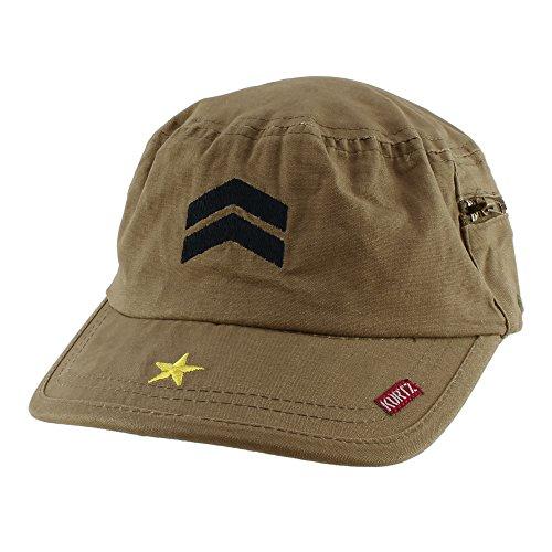A. Kurtz Fritz Army Cotton Casual Baseball Cap Adjustable Hat - Olive ()