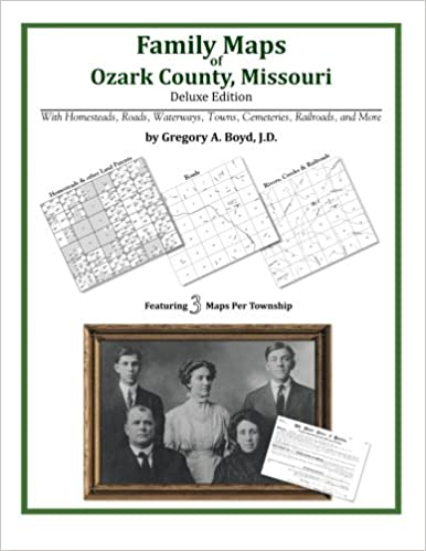 Family Maps of Ozark County, Missouri